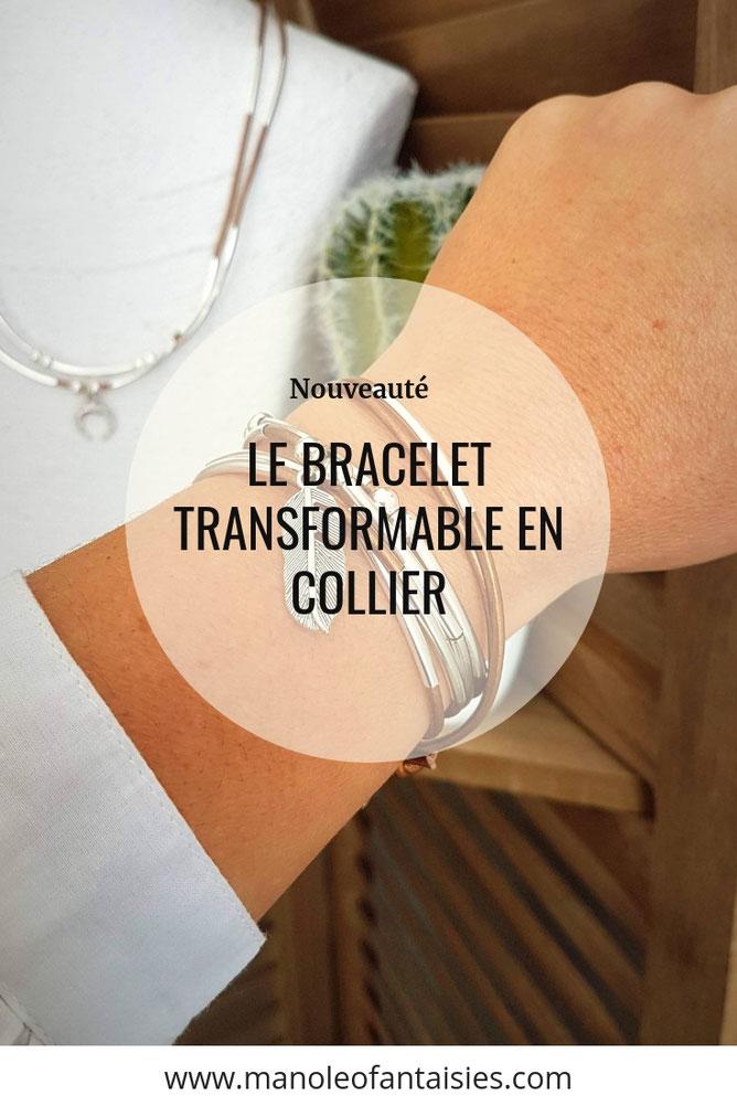 Le bracelet en cuir transformable en collier créations made in bassin d'arcachon nes nouveautés  Article blog