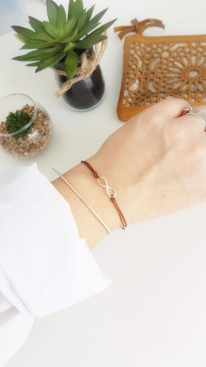 INFINI- Bracelet cordon Argent 925