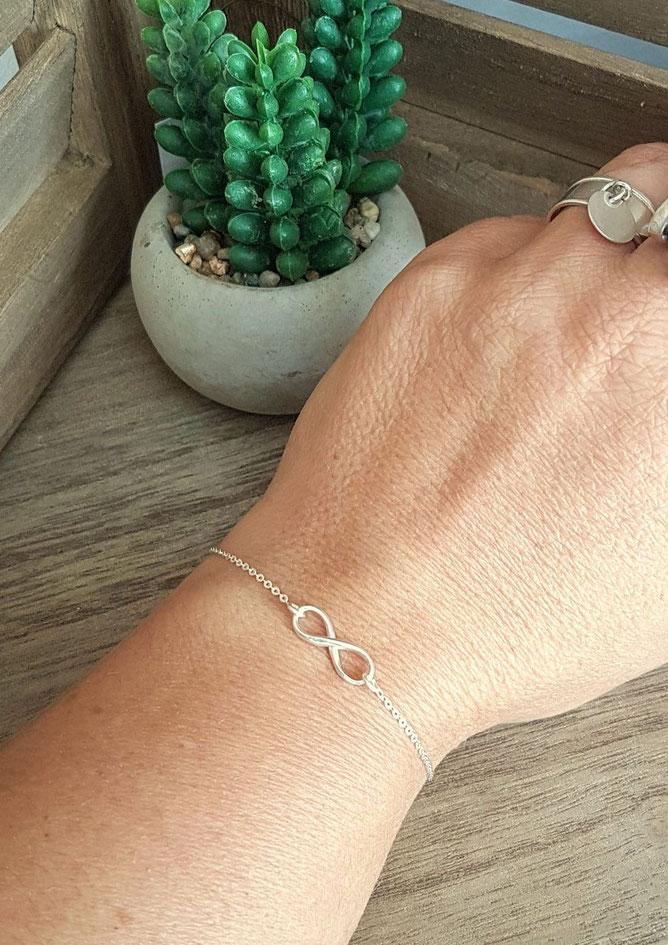 INFINI- Bracelet chaîne Argent 925