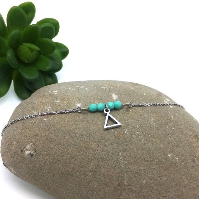 Bracelet fin TIANO bracelet turquoise, bracelet fait main Manoléo Fantaisie