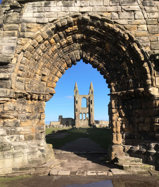 One of the most photographed views of St. Andrews Cathedral