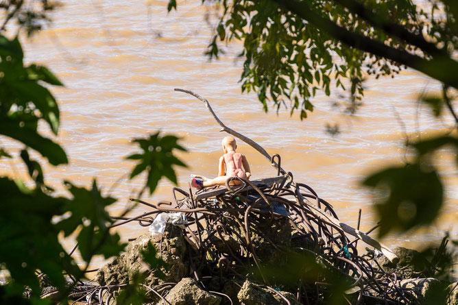 Fundstück am Río de la Plata, was der Fluss so alles anspült...