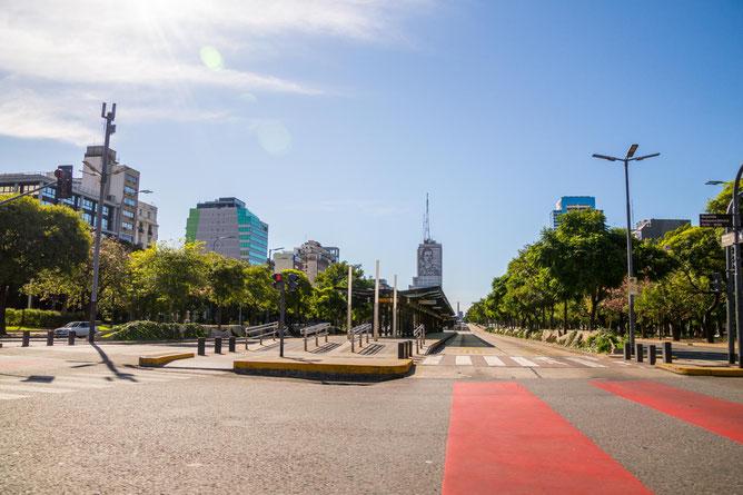 April 2020: Leere Straßen in Buenos Aires