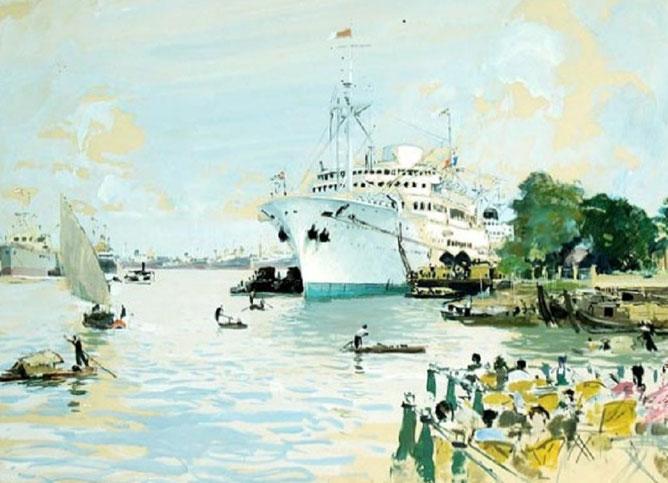 La Pointe des Blaguers et sa terrasse  avancée sur la rivière. On rêvait devant les bateaux  en sirotant un diabolo menthe..