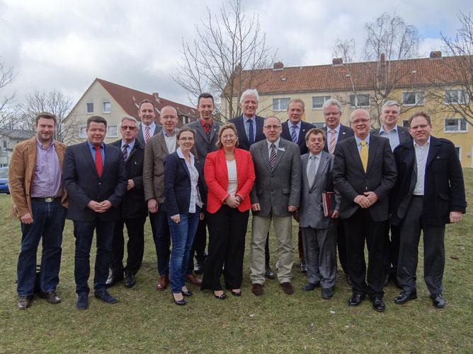 Bürgermeister und Bürgermeisterinnen der Region Hannover beim Treffen in Seelze