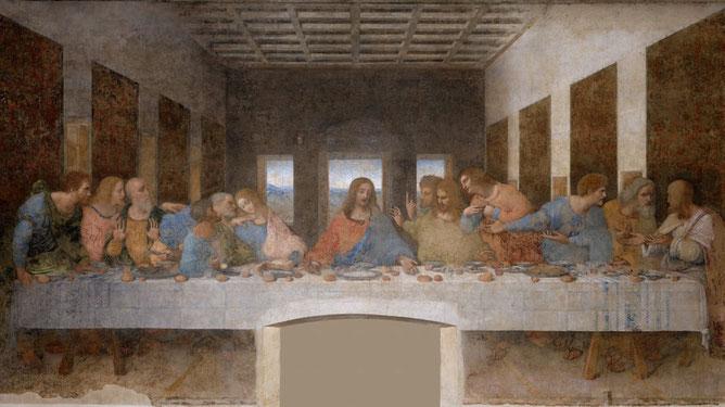 Тайная вечеря Леонардо да Винчи. Самые известные работы Леонардо да Винчи