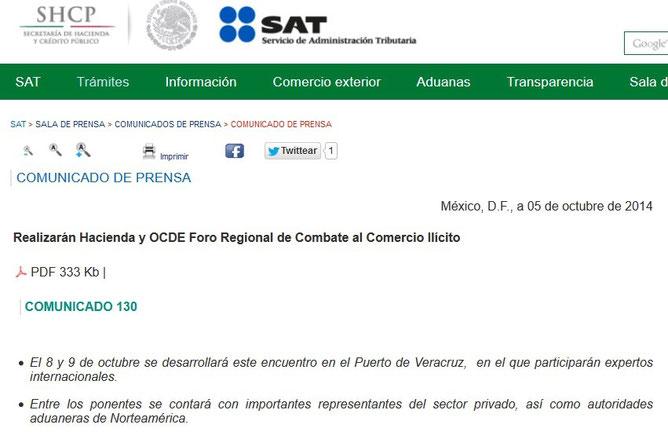 CLIC PARA VER COMUNICADO EN PAGINA DEL SAT.