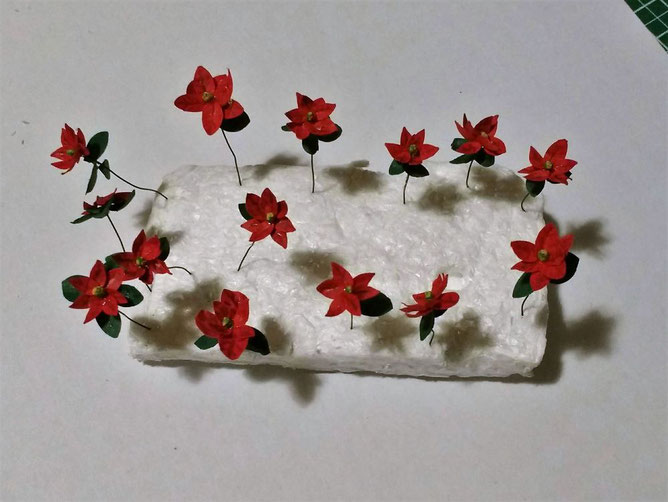 Miniatur-Weihnachtsstern 1 zu 12  Anleitung