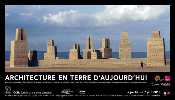 """Exposition """"Architecture d'aujourd'hui en terre"""", du 7 juin au 28 juillet au CCHa [Centre des Cultures de l'Habiter], Toulouse"""