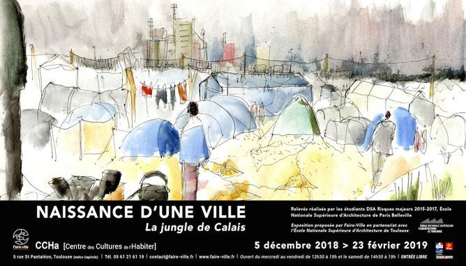 """Exposition """"Naissance d'une ville"""", du 5 décembre 2018 au 23 février 2019 au CCHa [Centre des Cultures de l'Habiter], Toulouse - ©Faire-Ville"""