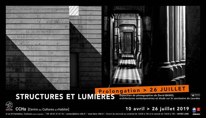 """Exposition """"Structures et lumières"""", du 10 avril au 1er juin 2019 au CCHa [Centre des Cultures de l'Habiter], Toulouse - ©Faire-Ville"""