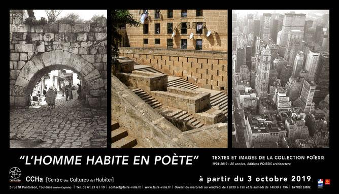 """Affiche de l'exposition 'L'homme habite en poète"""" au CCHa - Centre des Cultures de l'Habiter"""
