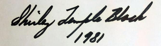 Autograph Shirley Temple Autogramm