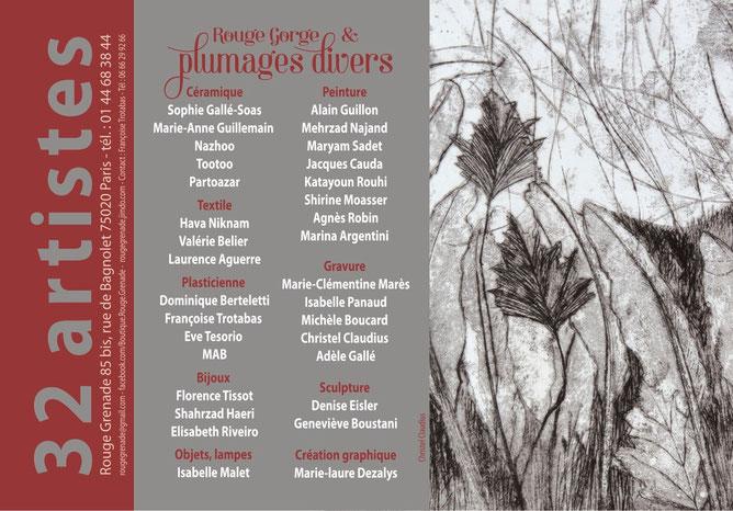 """32 artistes exposent leurs créations autour du theme """" Rouge Gorge et plumages divers """""""