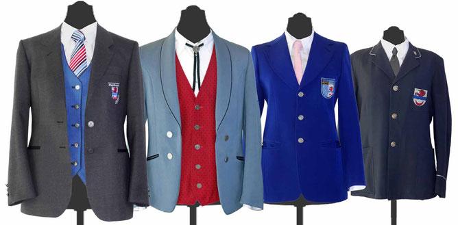 kleine Uniformkunde des MVL (v.l.n.r) aktuelle Uniform 2016, 1995-2015, 1977-1994, 1957-1976