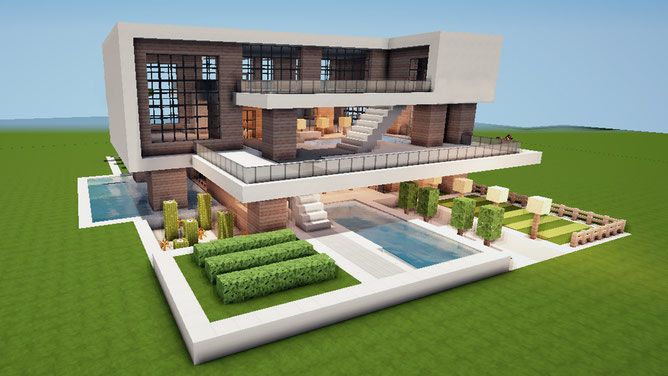 minecraft modern house inspiration