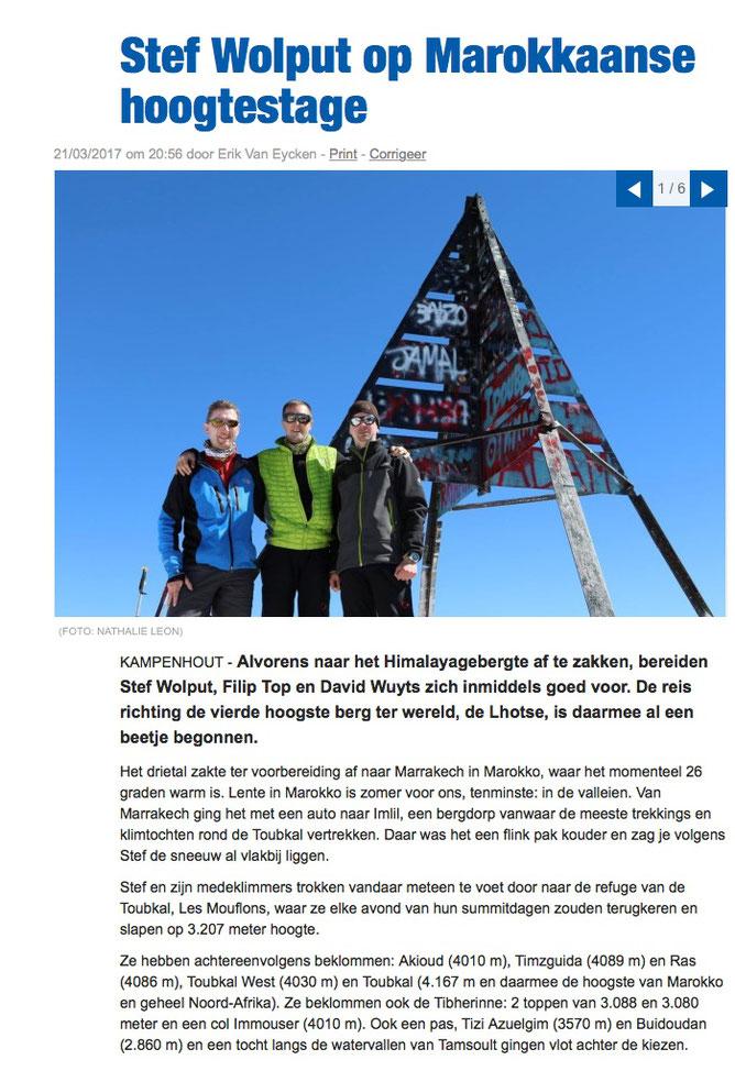Het Nieuwsblad BE 21 Maart 2017