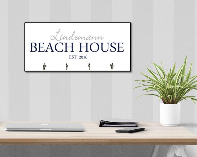 Schlüsselbrett Hakenleiste Beach House