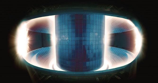 Plasma au sein d'un tokamak