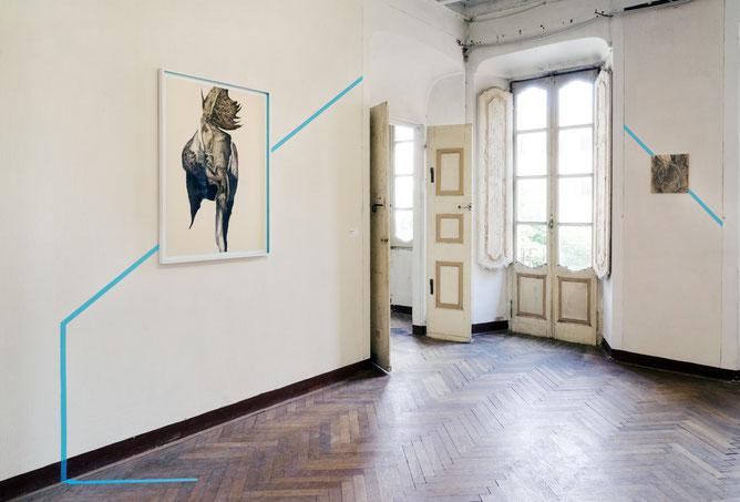 Exhibition view: Continuum – Lo Spirito di un Luogo, 2018, Villa Nigra, Orta-Miasino (No)