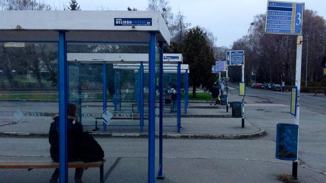 Автобусная станция, г. Кестхей