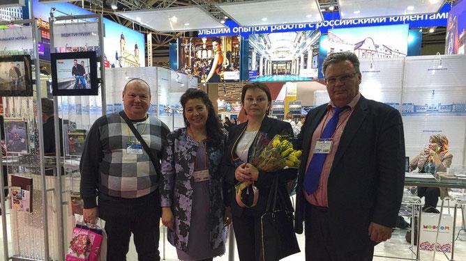 С руководителями турфирмы Vedi Tour Group Kft, Валентином и Лейлой Лысюк
