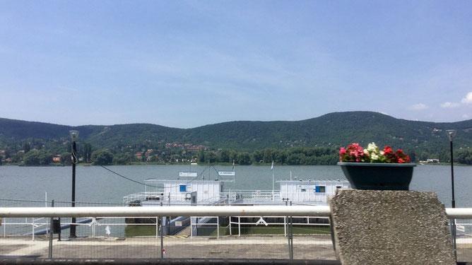 Пристань при въезде в город. При желании можно на кораблике добраться до Вишеграда