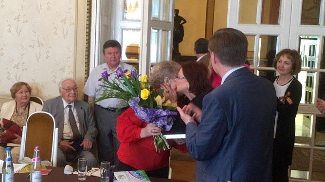 Поздравления и поцелуи от председателя КС Татьяны Керн