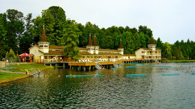 Озеро Хевиз в летний период