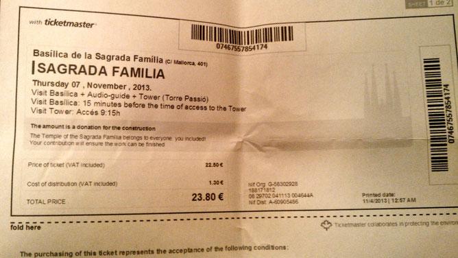 Билеты Sagrada Familia