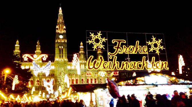 Рождественская ярмарка у Ратуши в Вене