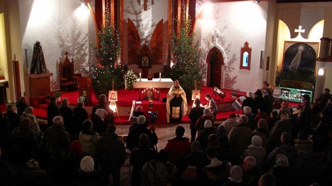 Православная Рождественская литургия в Хевизе
