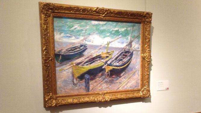 Моне «Три рыбацкие лодки»