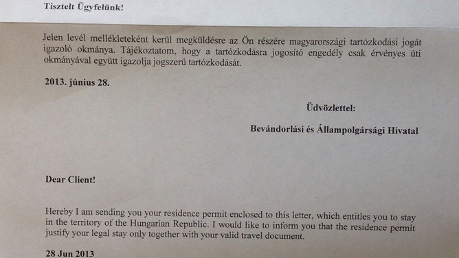 Письмо счастья из BÁH, которое приходит почтой вместе с пластиковой картой.