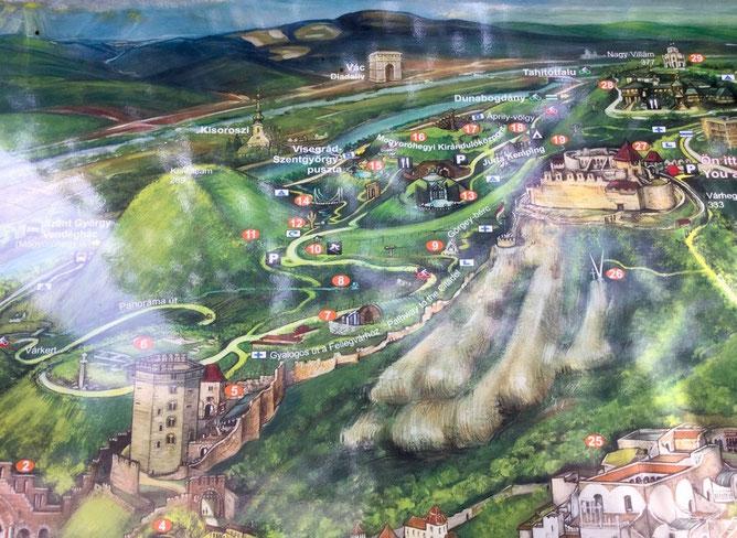 Фрагмент карты с нашим пешим маршрутом к крепости от башни Соломона
