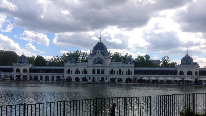 Искусственное озеро, которое зимой превращается в городской каток.