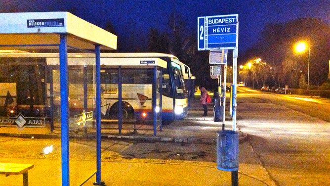 Автостанция в городе Кестхей