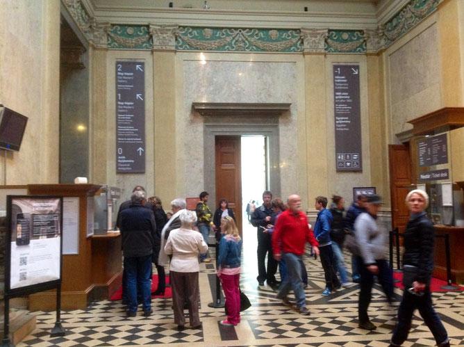 Фойе музея и касса