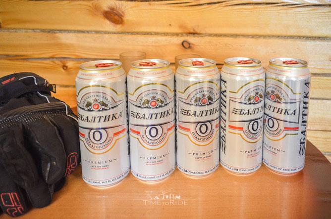 Alkoholfreies Bier gibt es selbst in Russland.