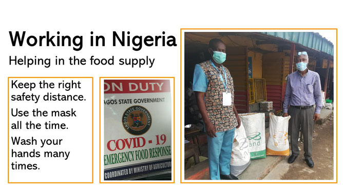 Working in Nigeria helping in the food supply