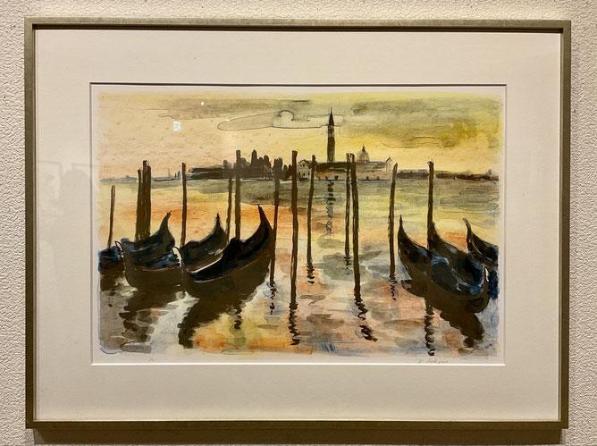 「ヴェネチアの朝」 水彩 F6