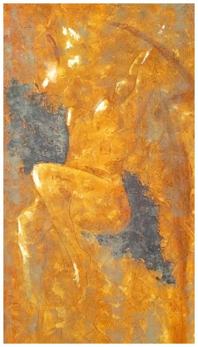 Imperfection decor V / Huiles sur toile 3 D.  50x100