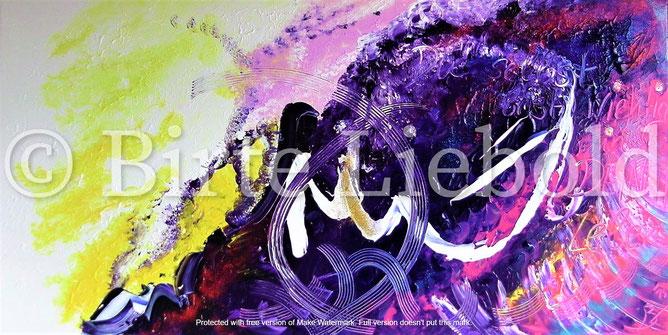 """... mit Wort-Botschaft: """"Du selbst bist wichtig in DEINEM Leben"""" - 50 x 100 cm -"""