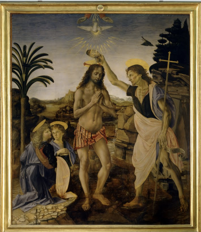 《キリストの洗礼》1470-1475年