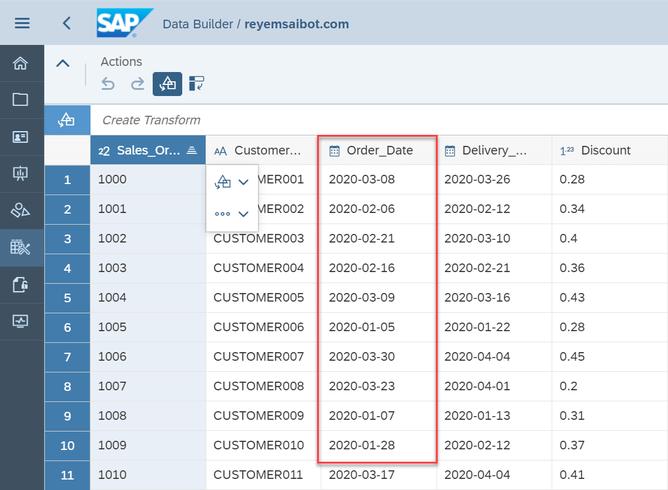 SAP Data Warehouse Cloud Import CSV File