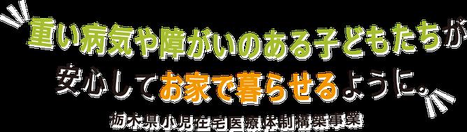 重い病気や障害のある子どもたちが、安心してお家で暮らせるように。栃木県小児在宅医療体制構築事業