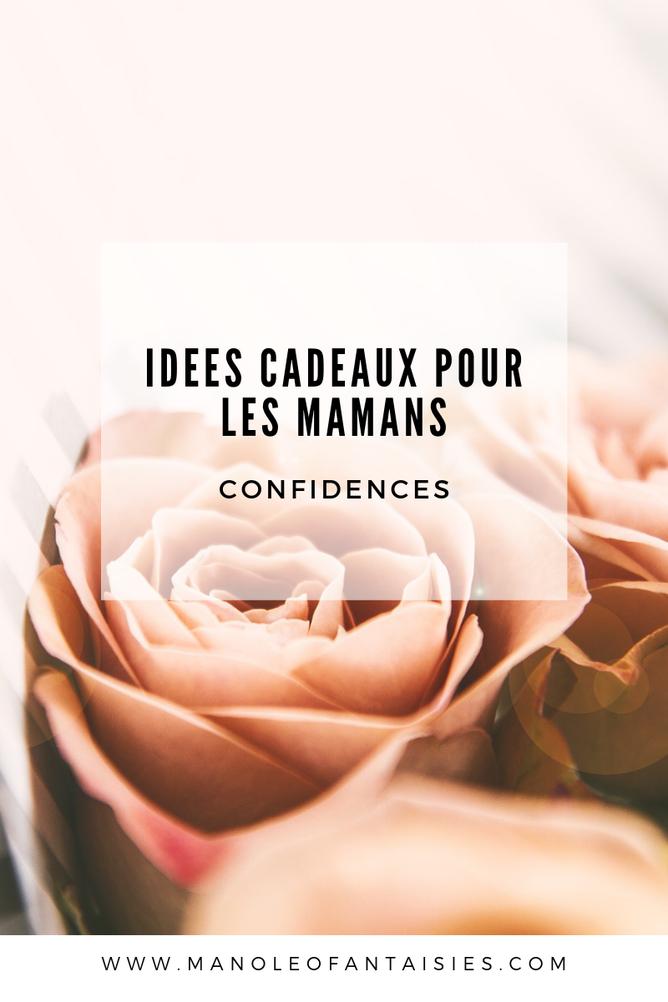 Idées cadeaux pour les mamans Article blog manoléo Fantaisies confidences Bijoux faits main