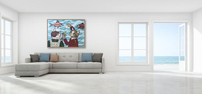Tableau pour maison bord de mer