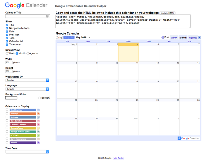 How To Add A Google Calendar To Your Website Jimdo Support Center