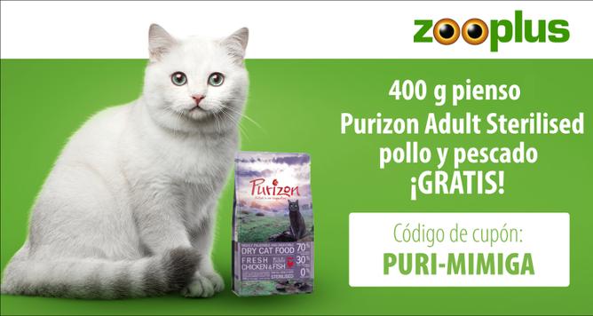 cupon-zooplus-puri-mi-miga-400-g-pienso-premium-purizon-gratis
